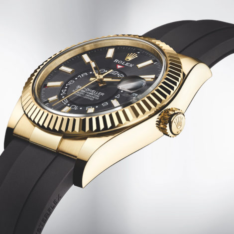 Luxury Rolex Released New Sky-Dweller Watch On Oysterflex Bracelet Replica Watch